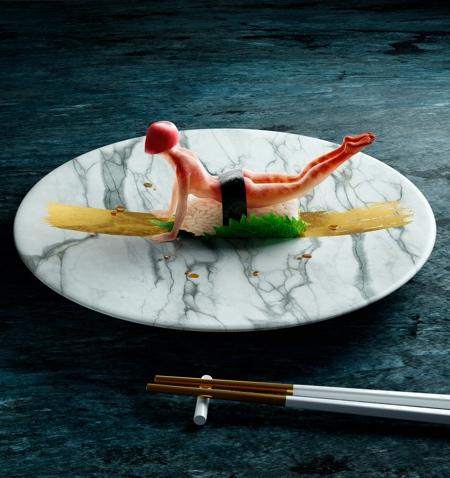 Cristian Girotto Human Sushi Yoga