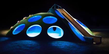 Japanese Playgrounds at Night