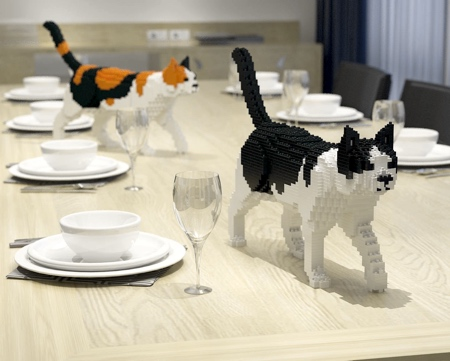 Cats Made of LEGO