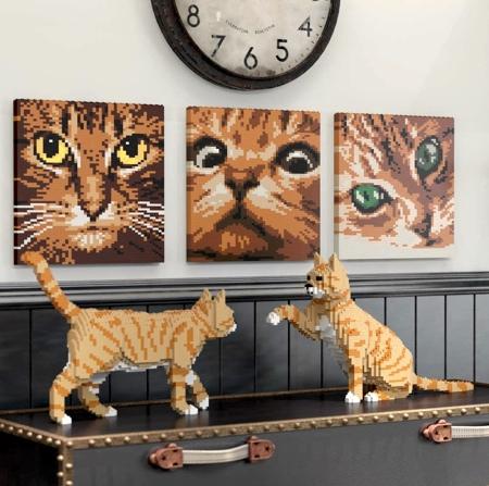Realistic LEGO Cats