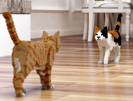 LEGO Cat Sculptures