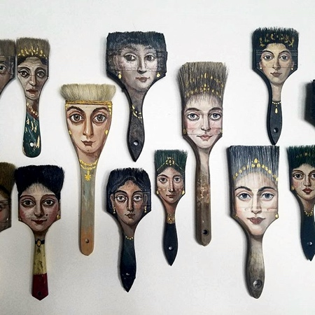 Alexandra Dillon Paintbrush Faces