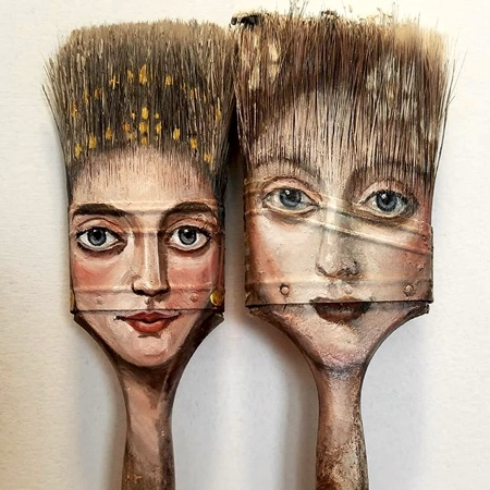 Alexandra Dillon Paintbrush Face