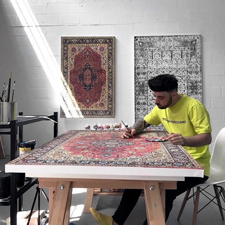 Painted Rugs