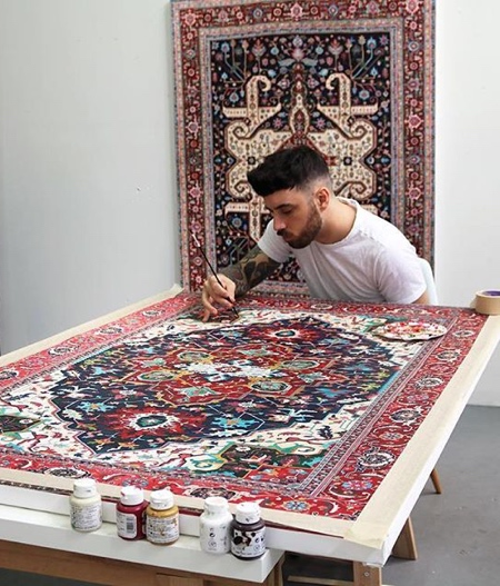 Jason Seife Persian Rug Paintings