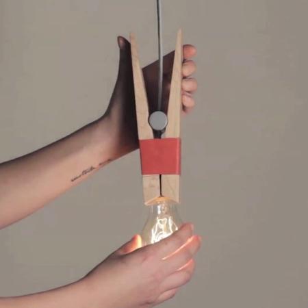 Clothing Peg Lamp