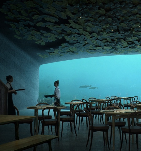 Underwater Restaurant in Europe