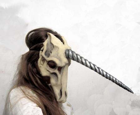 Realistic Unicorn Skull Mask