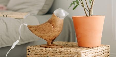 Wooden Bird Lamp