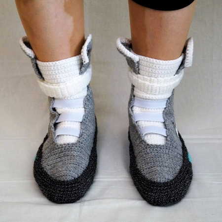 Back to the Future Knitted Snoes