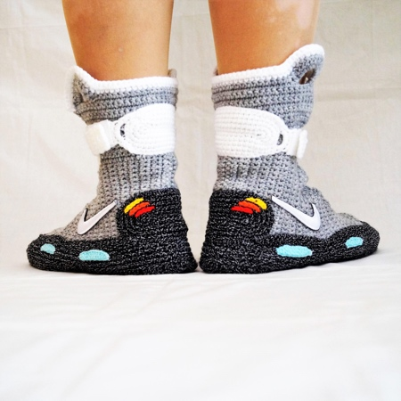 Back to the Future Knitted Nike Snoes