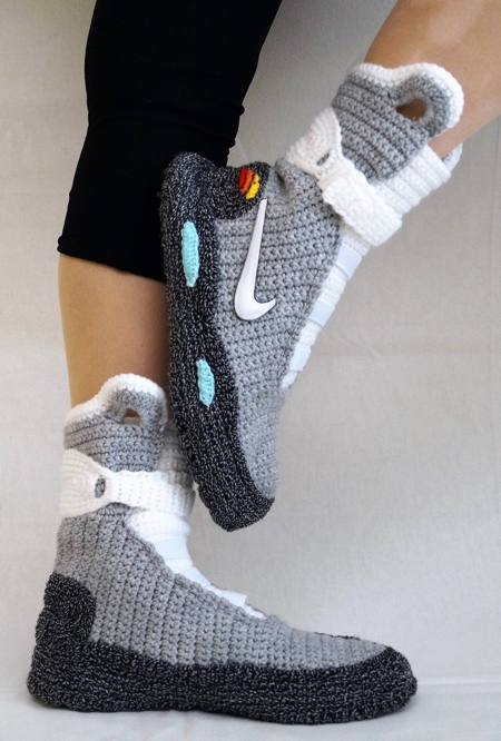 9a0528ecacab37 Back to the Future Knitted Nike Sneakers