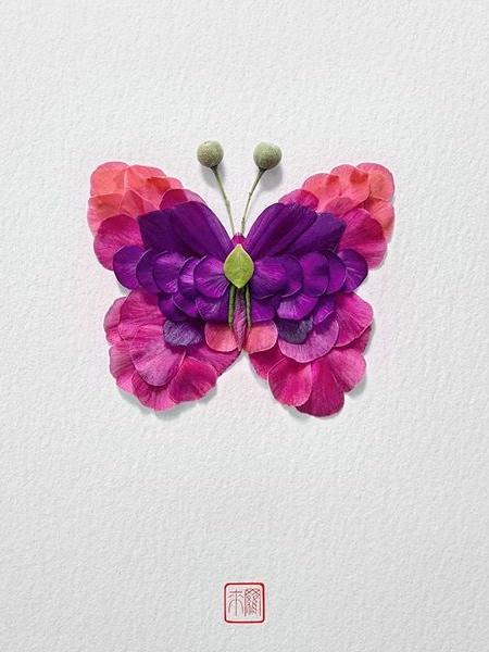 Raku Inoue Butterflies Made of Flowers