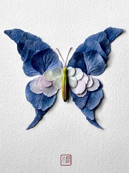 Raku Inoue Butterfly Made of Flowers