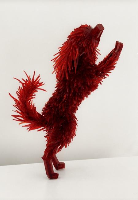 Shattered Glass Animal Sculptures