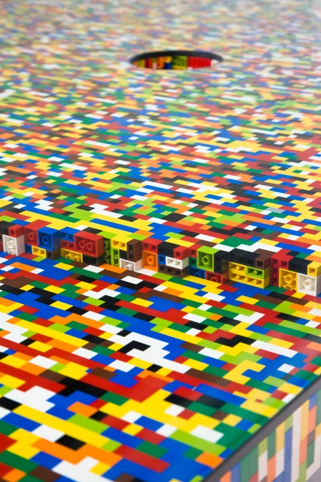 Boardroom Table Made of LEGO