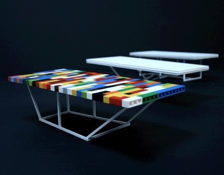 Desk Made of LEGO