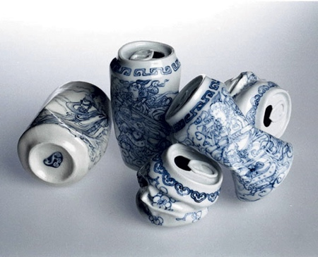 Porcelain Soda Cans