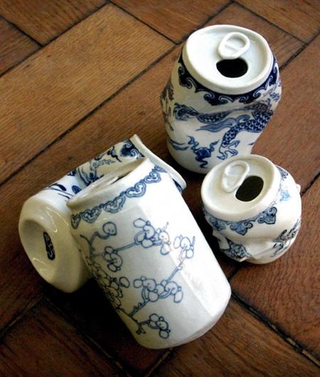 Crushed Porcelain Cans