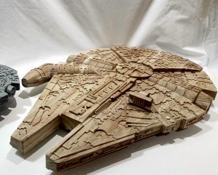 Wooden Millennium Falcon