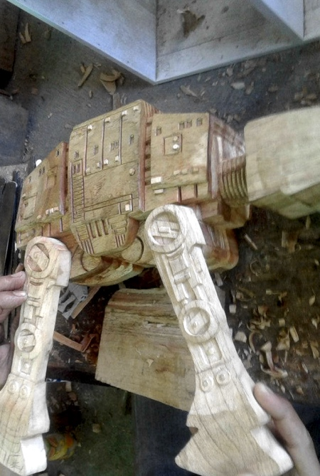 Wooden AT-AT Walker
