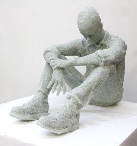 Daniel Arsham Broken Glass Sculptures