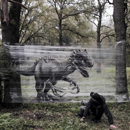 Evgeny Ches Plastic Wrap Art