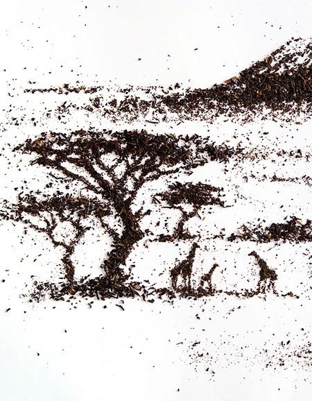 Andrew Gorkovenko Tea Art
