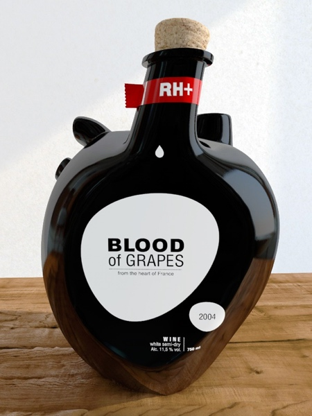Blood of Grapes Wine Bottle