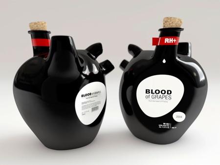 Heart Shaped Wine Bottle
