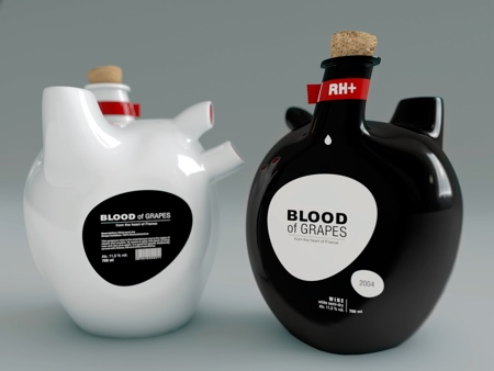 Human Heart Wine Bottle