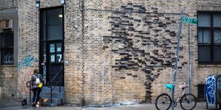 Brick Wall Tree Art