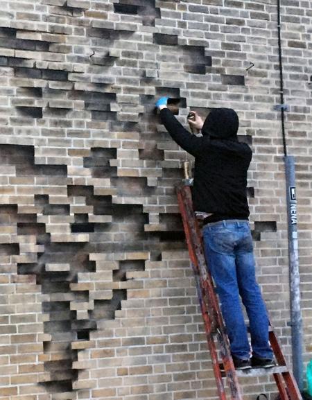 Brick Wall Tree Street Art