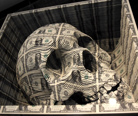 Skull Made of Money