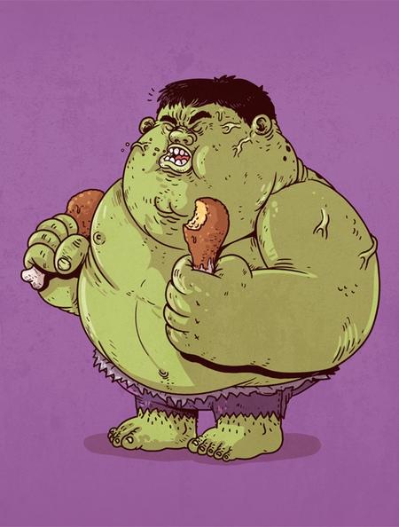 Alex Solis Fat Superheroes