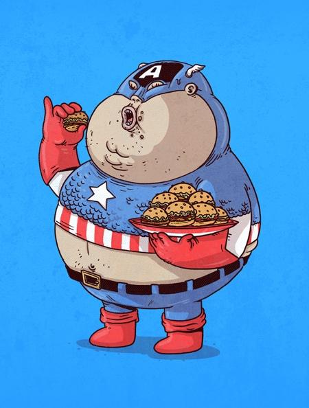 Alex Solis Fat Superhero