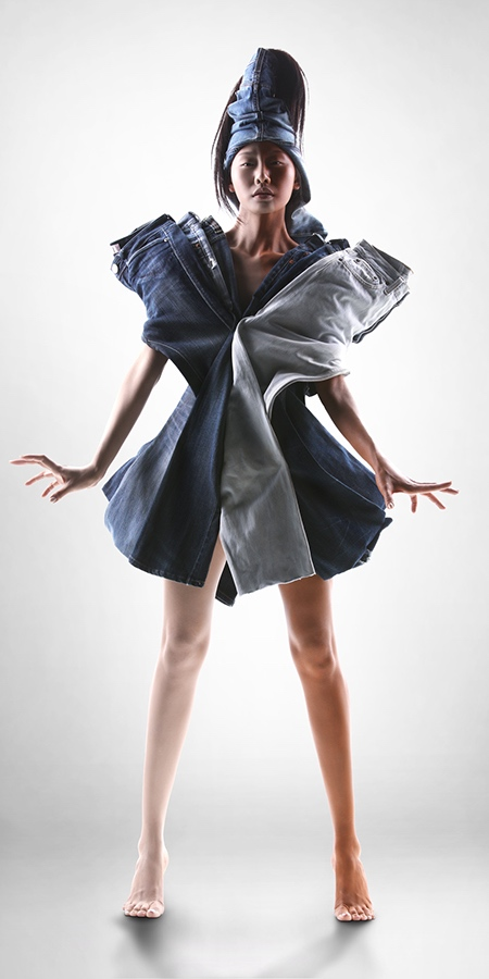 Dress Made of Jeans