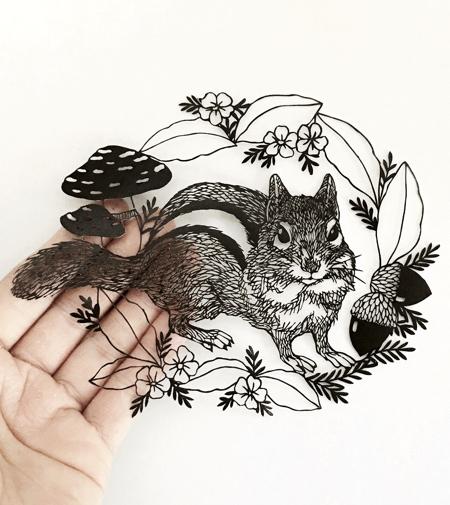 3D Paper Art by Kanako Abe