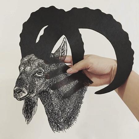 Kanako Abe Cut Out Paper Art