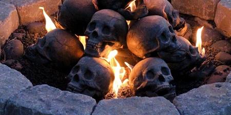 Human Skulls Fire Logs