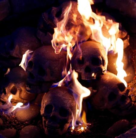 Skull Fire Log