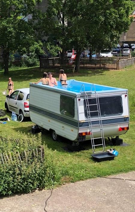 Camper Trailer Swimming Pool