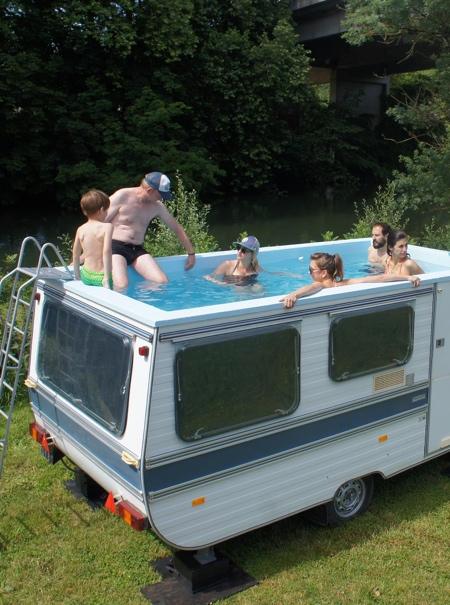 Swimming Pool on Wheels