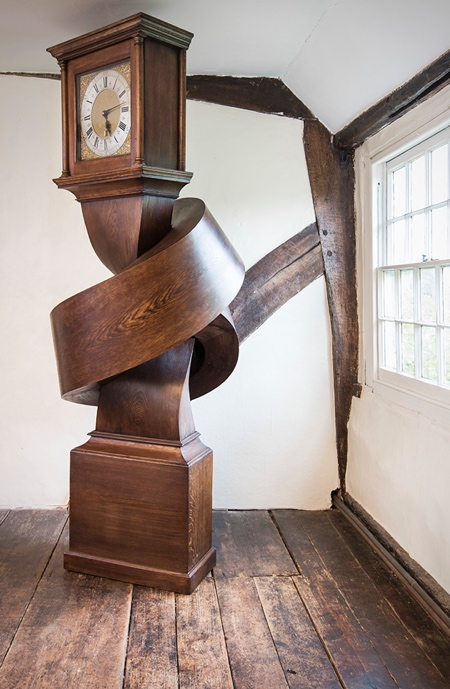 Alex Chinneck Wooden Knot Clock