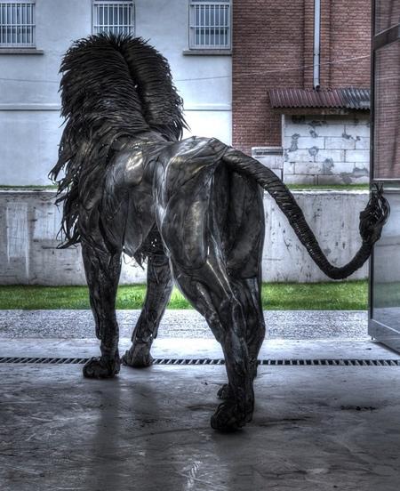 Lion Made of Metal