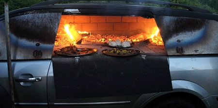 Pizza Oven Car