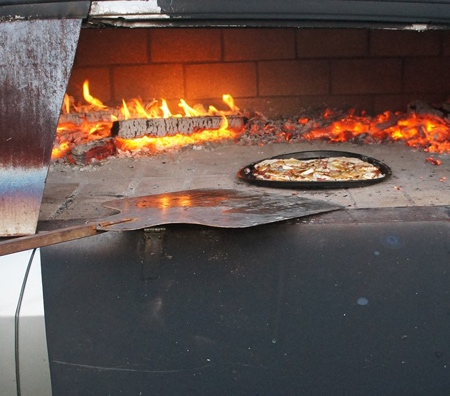Benedetto Bufalino Pizza Oven Car