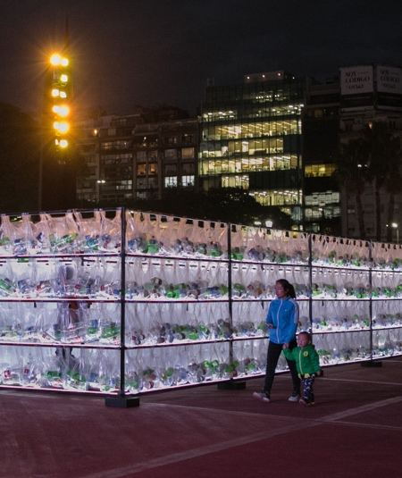 Plastic Waste Labyrinth Buenos Aires