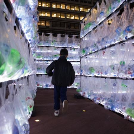 Luzinterruptus Plastic Waste Labyrinth