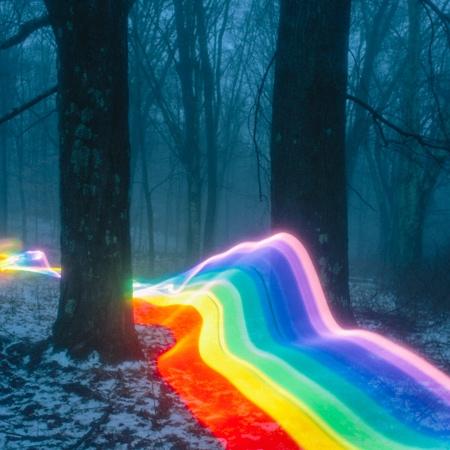 Long Exposure Rainbow Photography